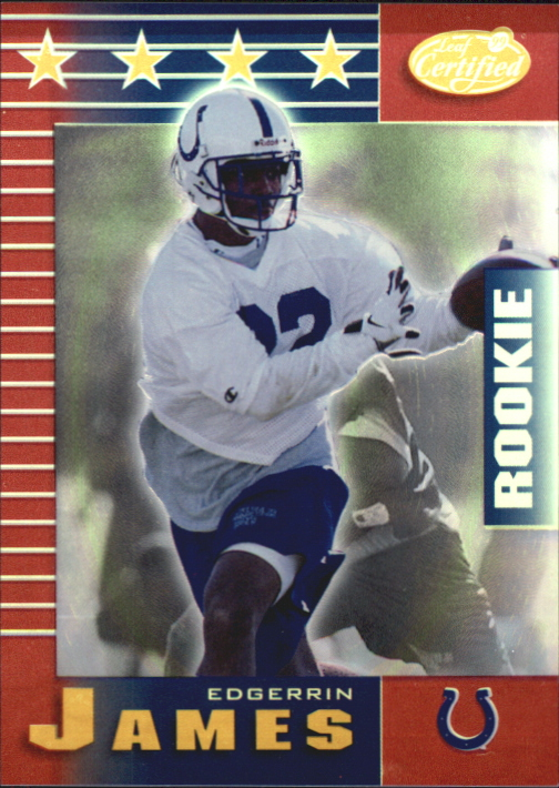 1999 Leaf Certified Mirror Red #198 Edgerrin James