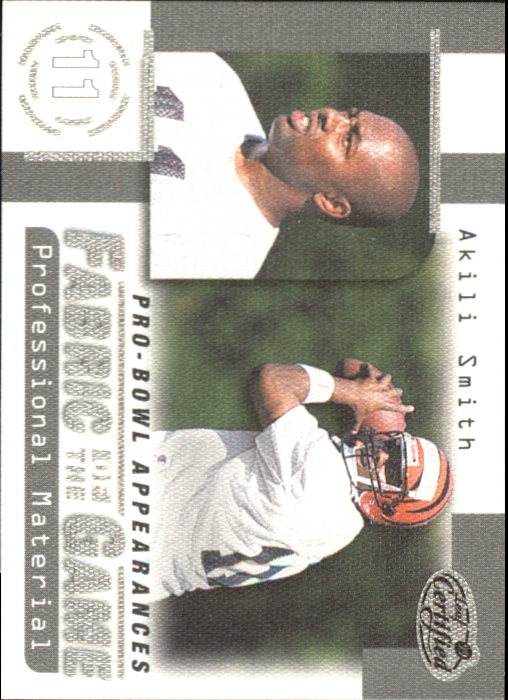 1999 Leaf Certified Fabric of the Game #FG25 Akili Smith/1000