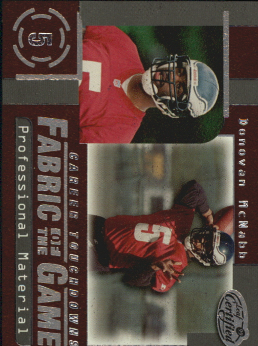 1999 Leaf Certified Fabric of the Game #FG50 Donovan McNabb/1000