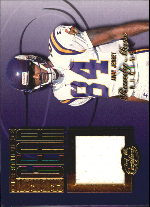 1999 Leaf Certified Gridiron Gear #RM84A Randy Moss White