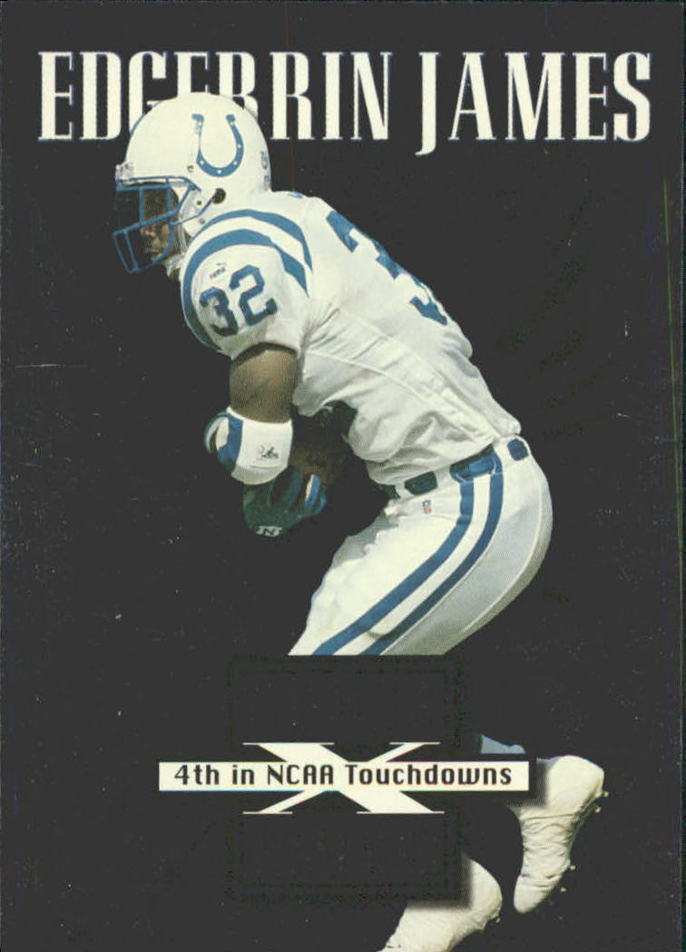 1999 Leaf Rookies and Stars Cross Training #CT12 Edgerrin James
