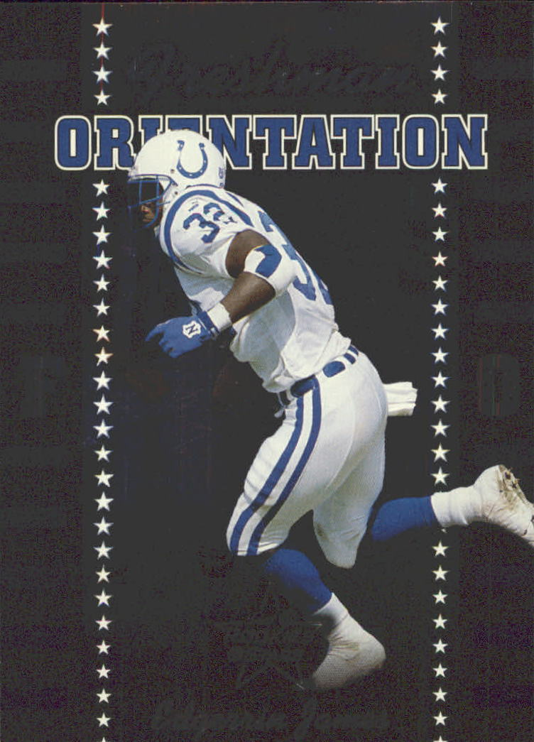 1999 Leaf Rookies and Stars Freshman Orientation #FO14 Edgerrin James
