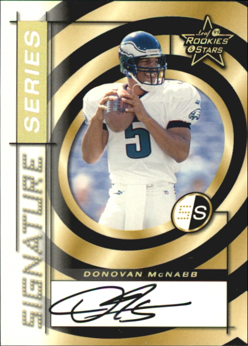 1999 Leaf Rookies and Stars Signature Series #SS8 Donovan McNabb