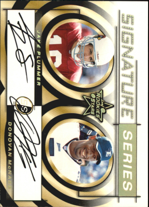 1999 Leaf Rookies and Stars Signature Series #SS9 Jake Plummer/Donovan McNabb