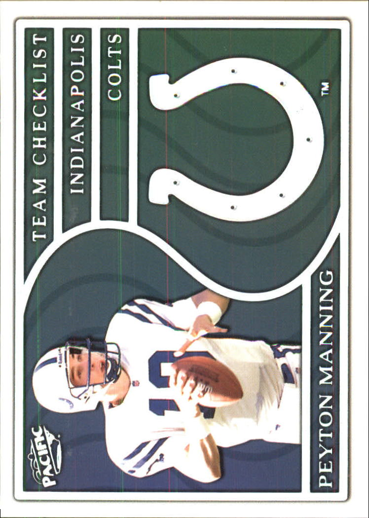 1999 Pacific Team Checklists #13 Peyton Manning