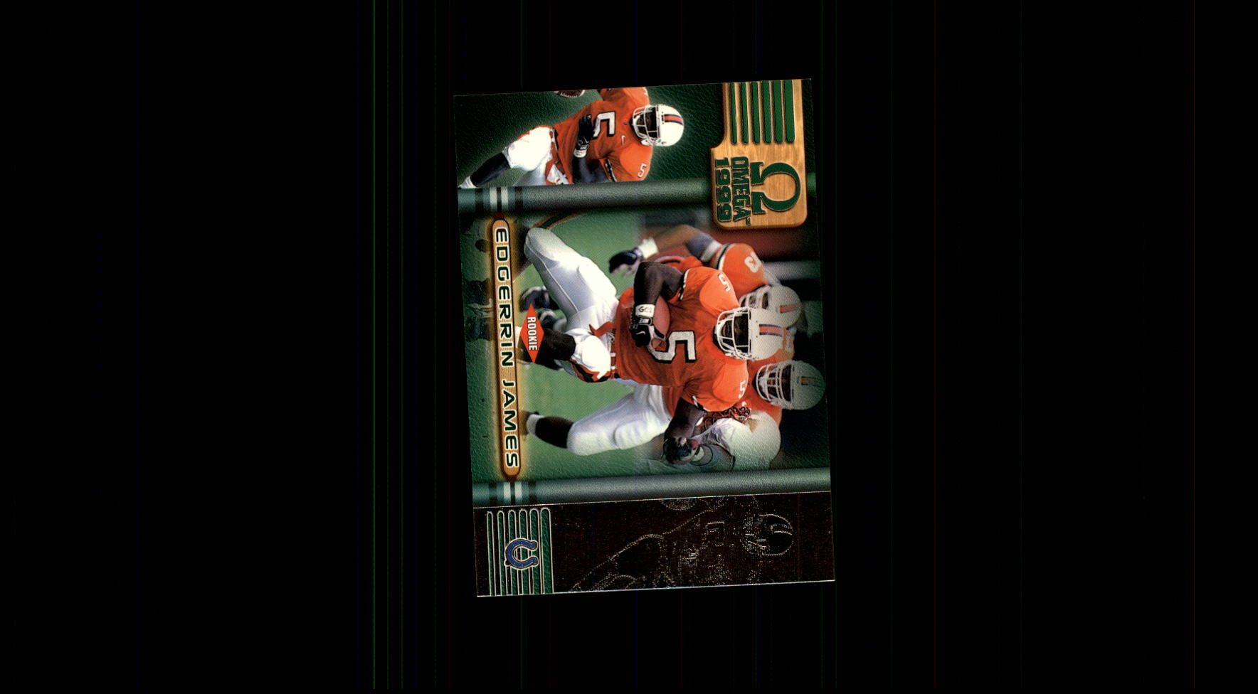 1999 Pacific Omega #100 Edgerrin James RC