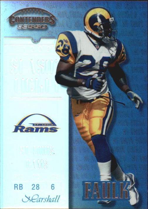 1999 Playoff Contenders SSD #66 Marshall Faulk