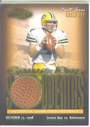 1999 Playoff Contenders SSD Game Day Souvenirs #GS9 Brett Favre
