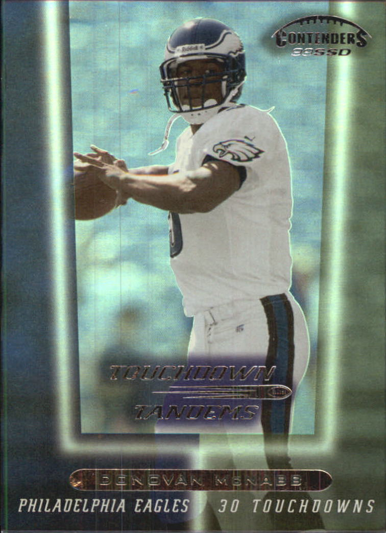 1999 Playoff Contenders SSD Touchdown Tandems #T15 D.McNabb/C.Johnson