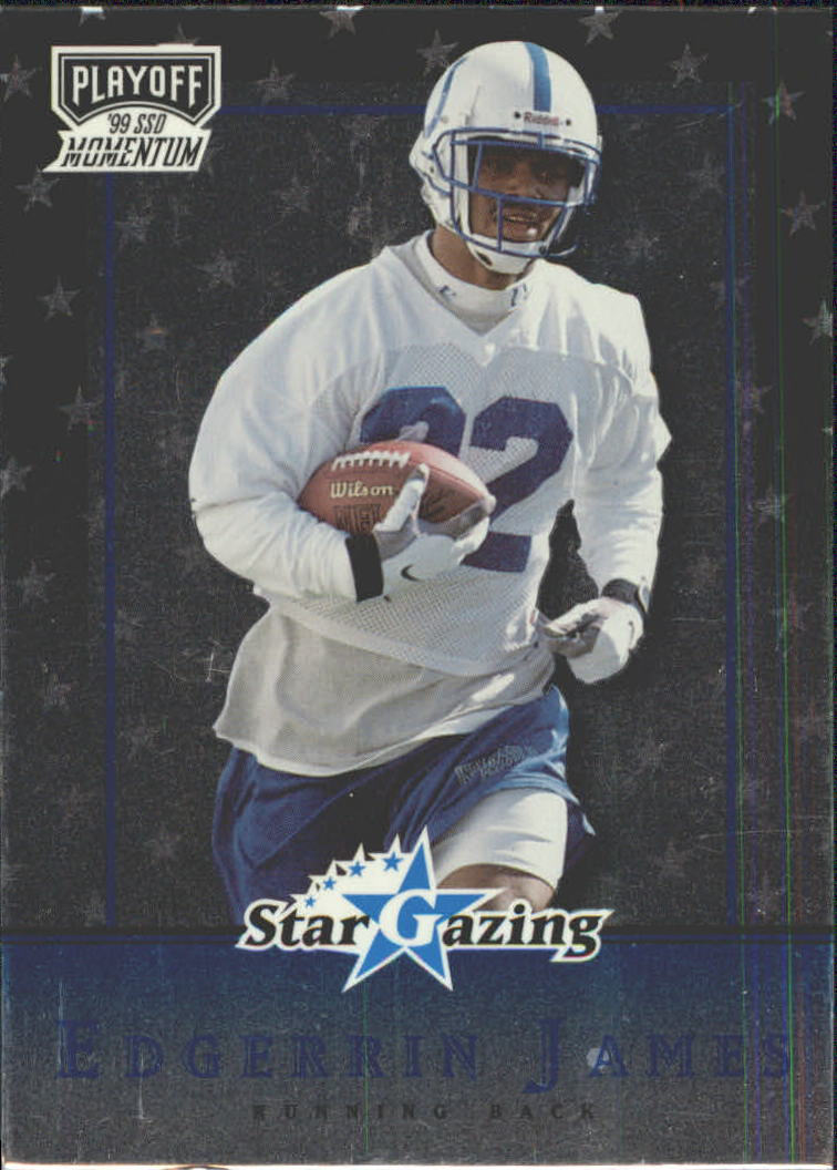 1999 Playoff Momentum SSD Star Gazing #SG21 Edgerrin James