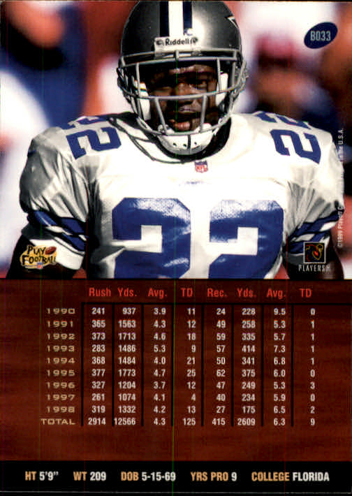 1999 Playoff Prestige SSD #33 Emmitt Smith back image