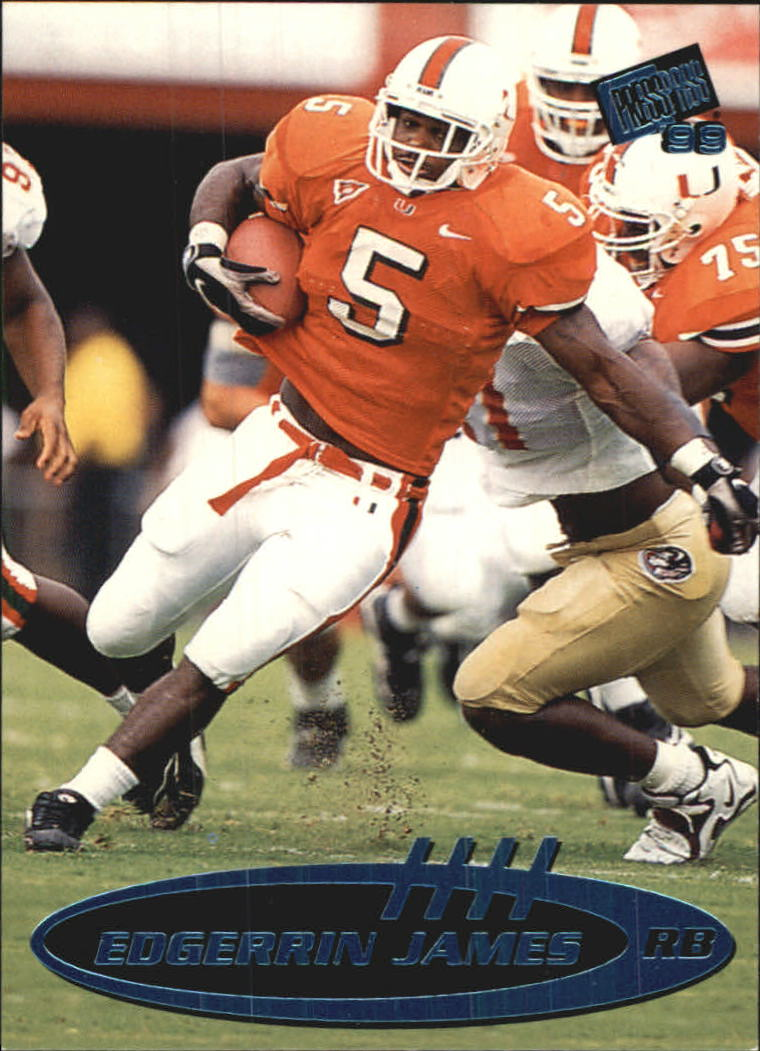 1999 Press Pass Torquers Blue #6 Edgerrin James
