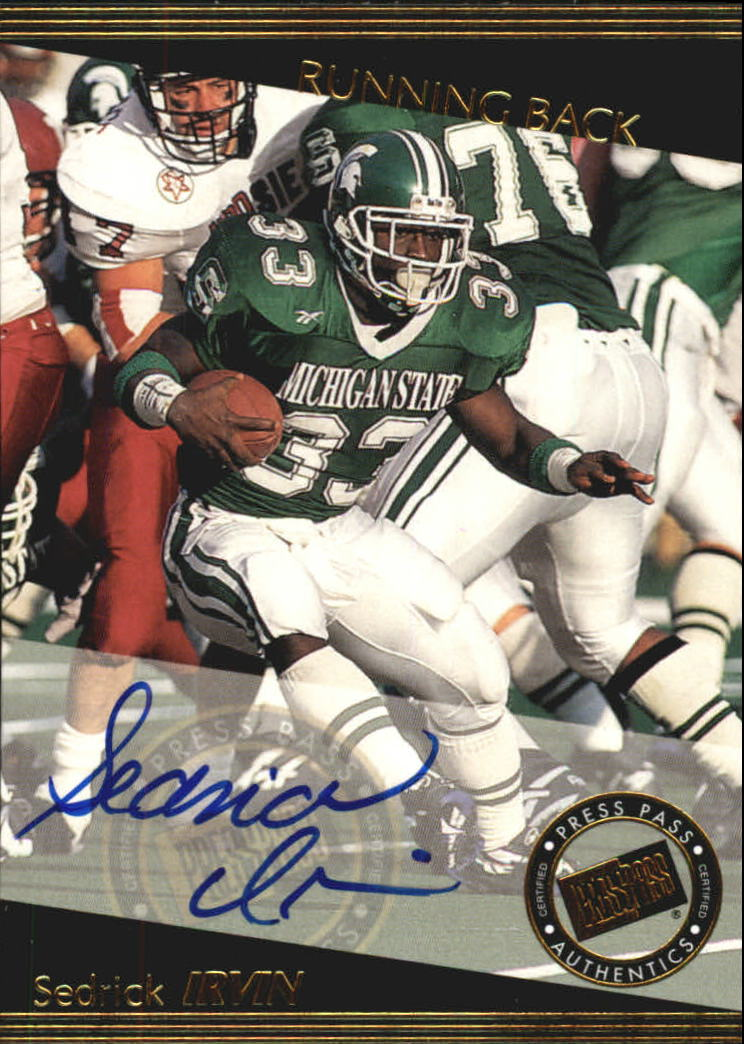 1999 Press Pass Autographs #23 Sedrick Irvin