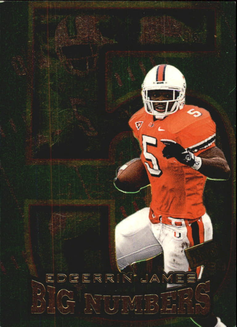 1999 Press Pass Big Numbers #BN4 Edgerrin James