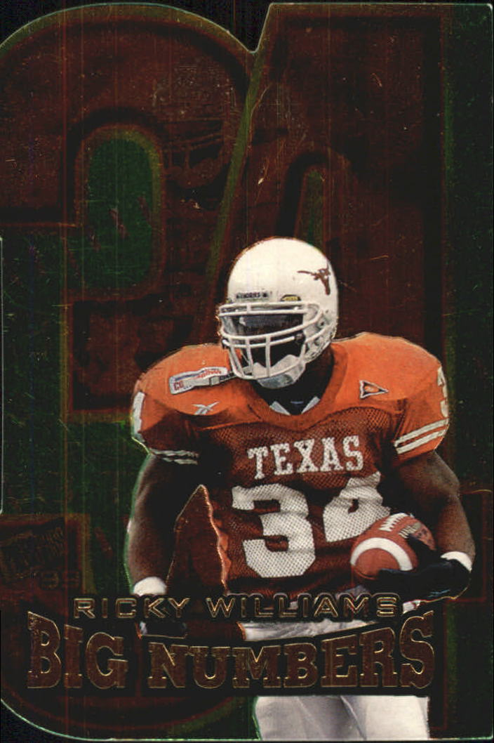 1999 Press Pass Big Numbers Die Cuts #BN2 Ricky Williams