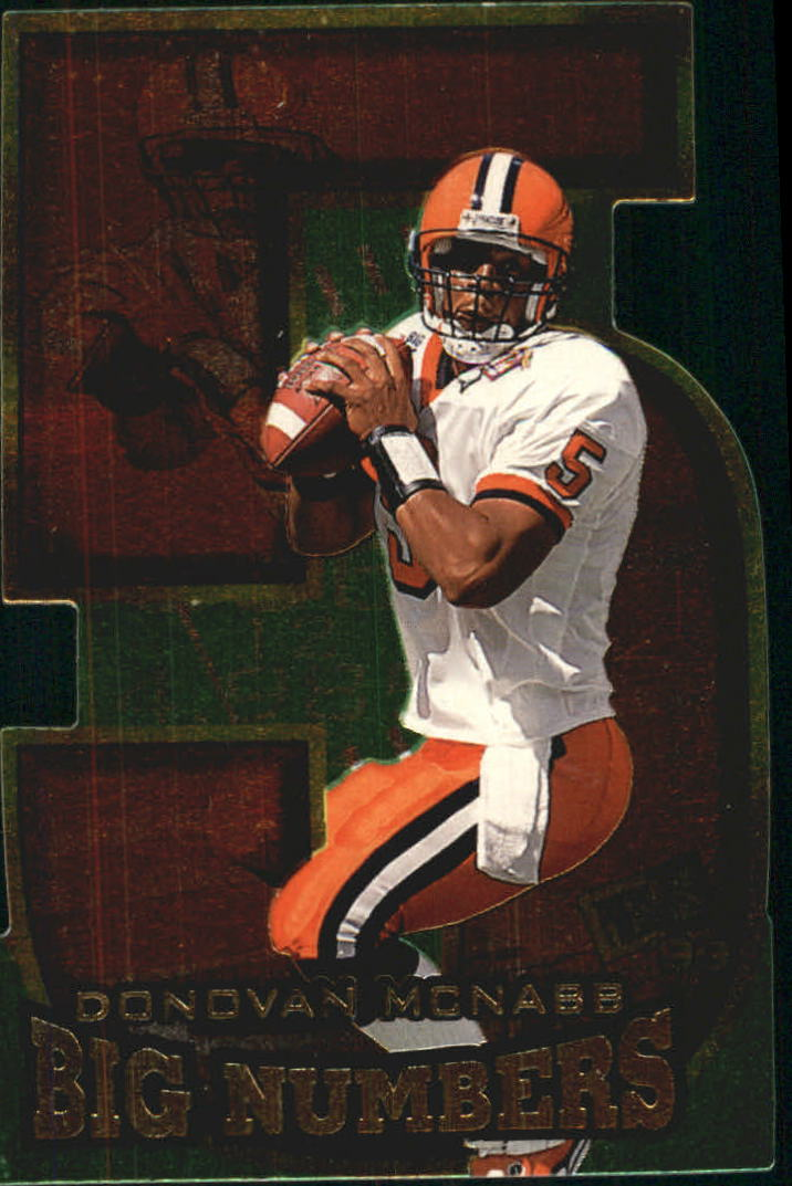 1999 Press Pass Big Numbers Die Cuts #BN3 Donovan McNabb