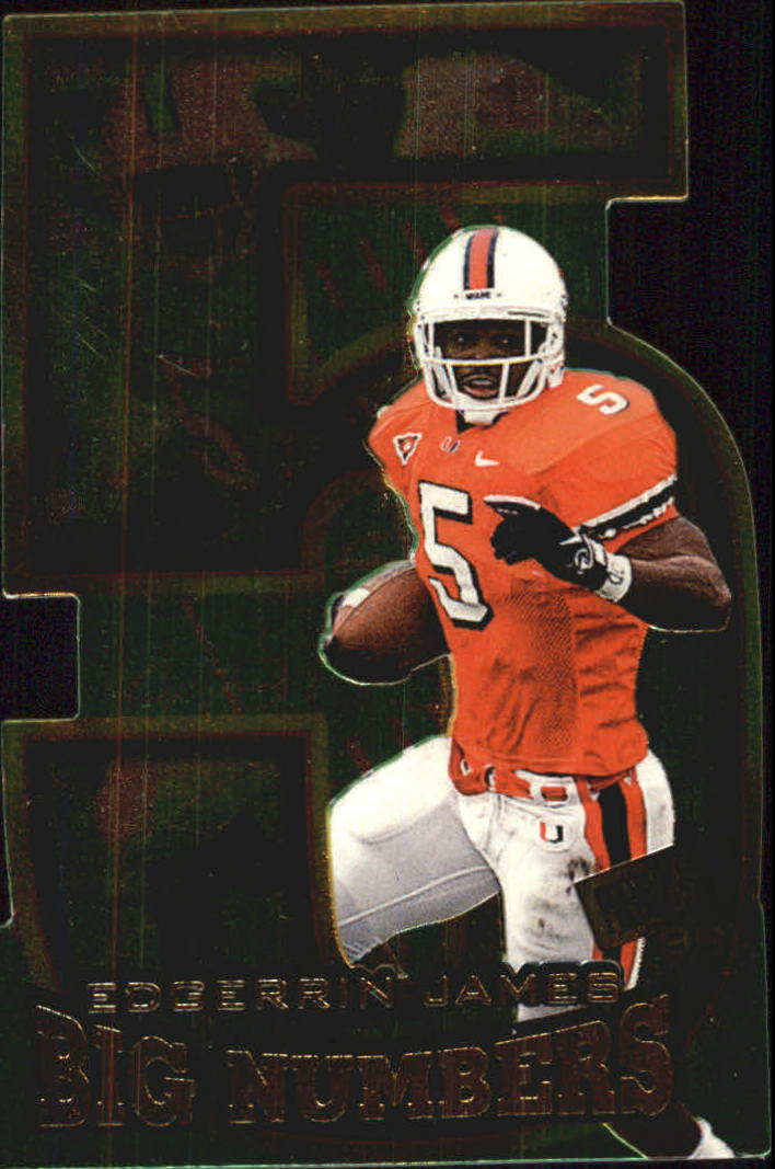 1999 Press Pass Big Numbers Die Cuts #BN4 Edgerrin James