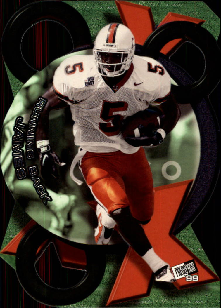 1999 Press Pass X's and O's #XO5 Edgerrin James