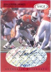 1999 SAGE Autographs Red #A23 Edgerrin James/859