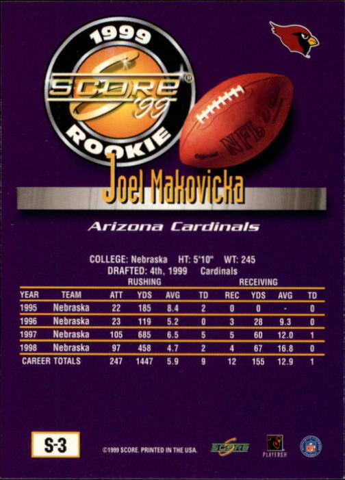 1999 Score Supplemental #S3 Joel Makovicka RC