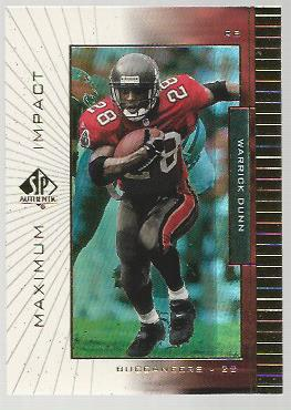 1999 SP Authentic Maximum Impact #MI6 Warrick Dunn