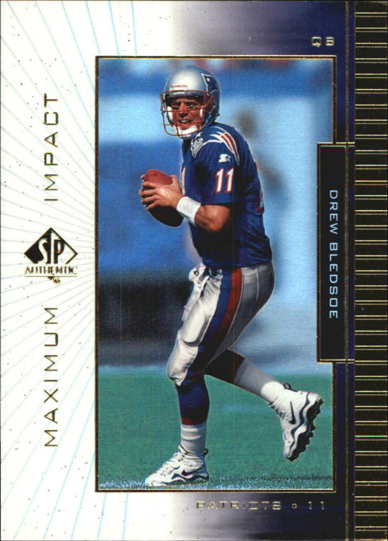 1999 SP Authentic Maximum Impact #MI8 Drew Bledsoe