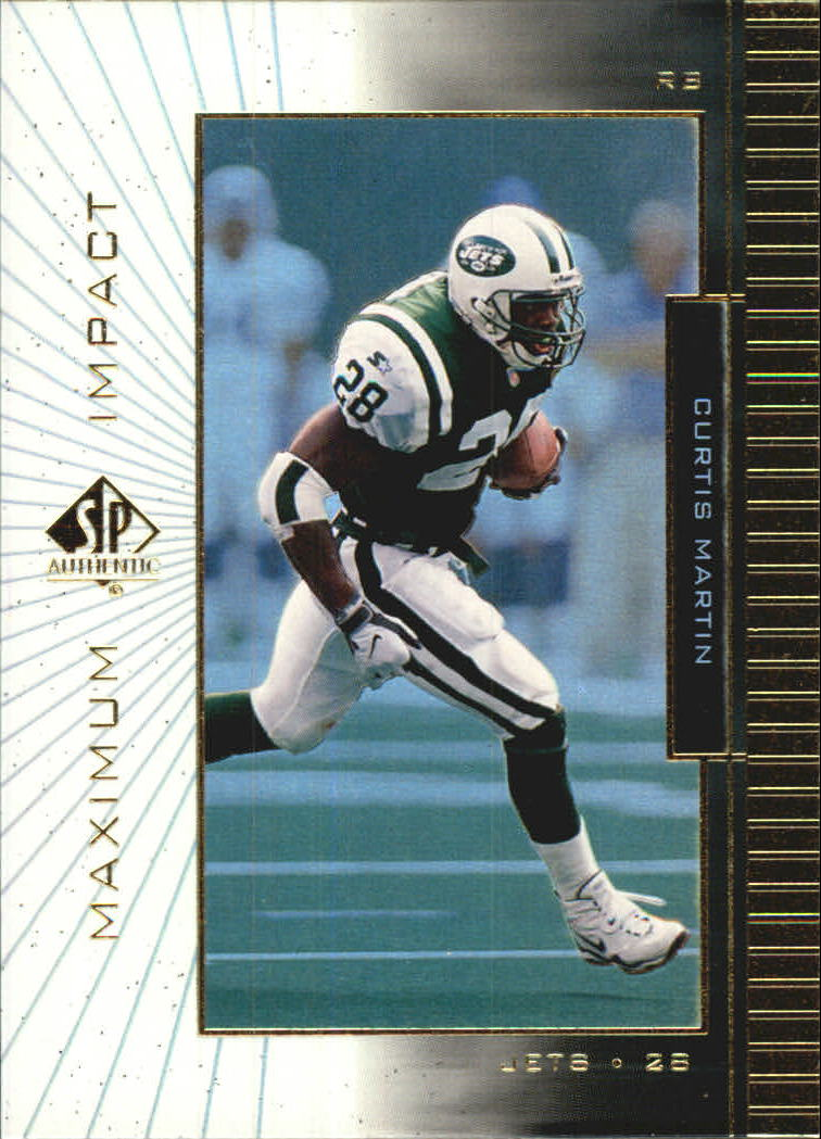 1999 SP Authentic Maximum Impact #MI9 Curtis Martin