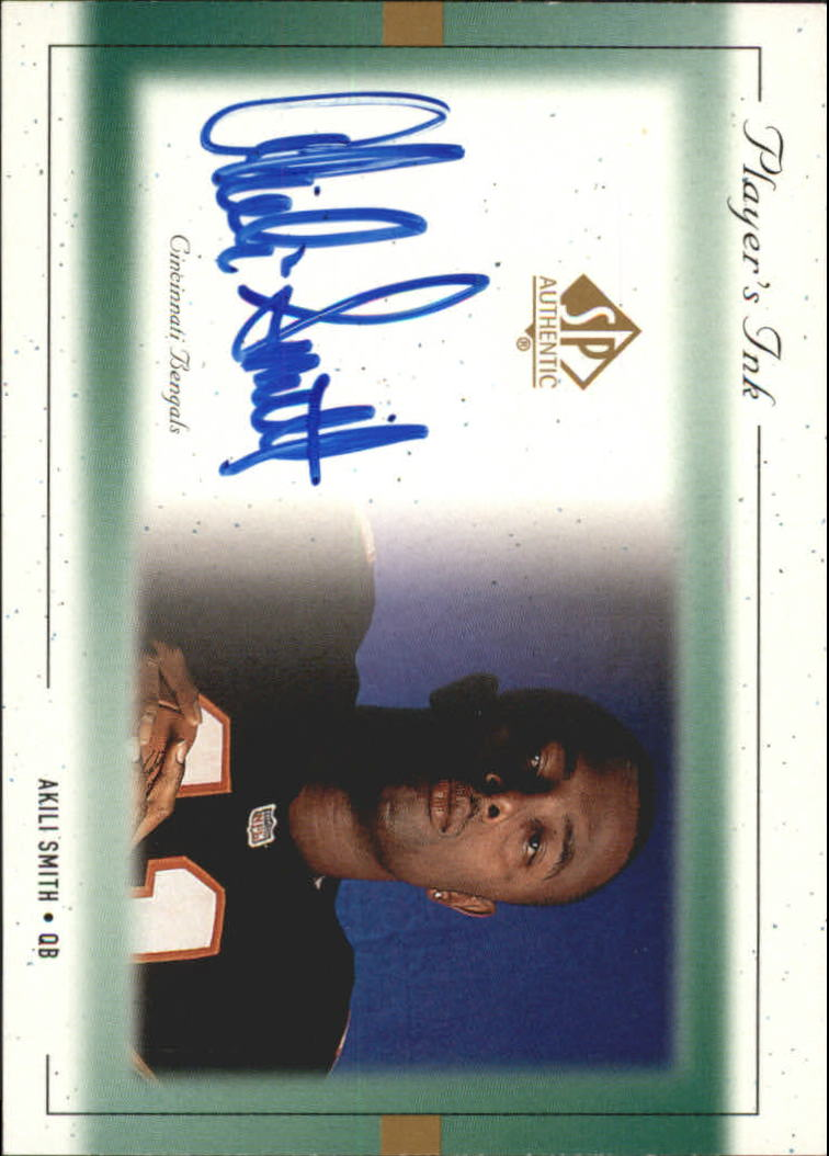 1999 SP Authentic Player's Ink Green #ASA Akili Smith