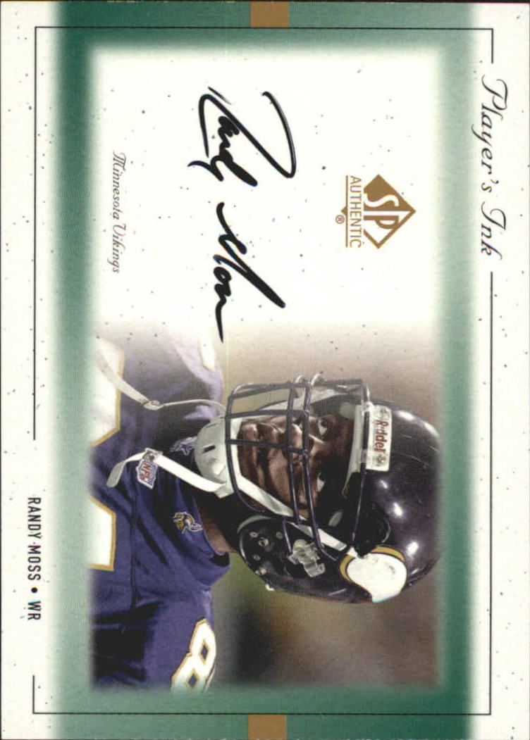 1999 SP Authentic Player's Ink Green #RMA Randy Moss