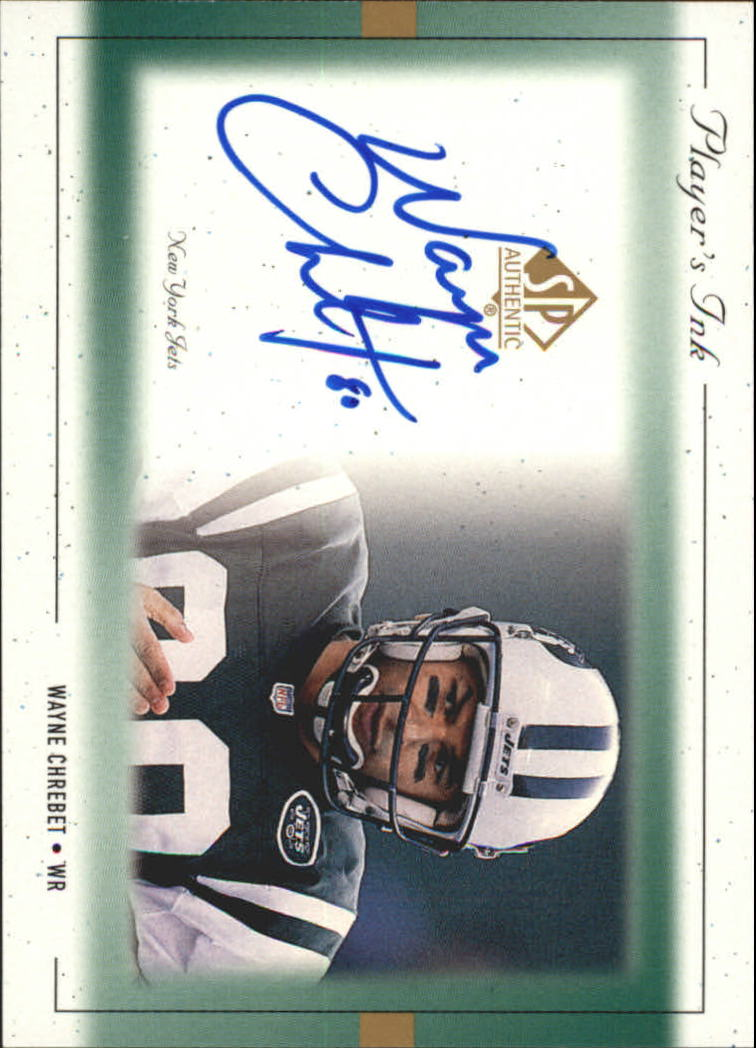 1999 SP Authentic Player's Ink Green #WCA Wayne Chrebet
