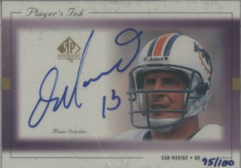 1999 SP Authentic Player's Ink Purple #DMA Dan Marino front image