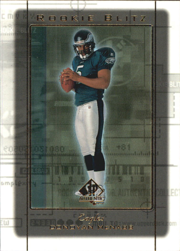 1999 SP Authentic Rookie Blitz #RB5 Donovan McNabb