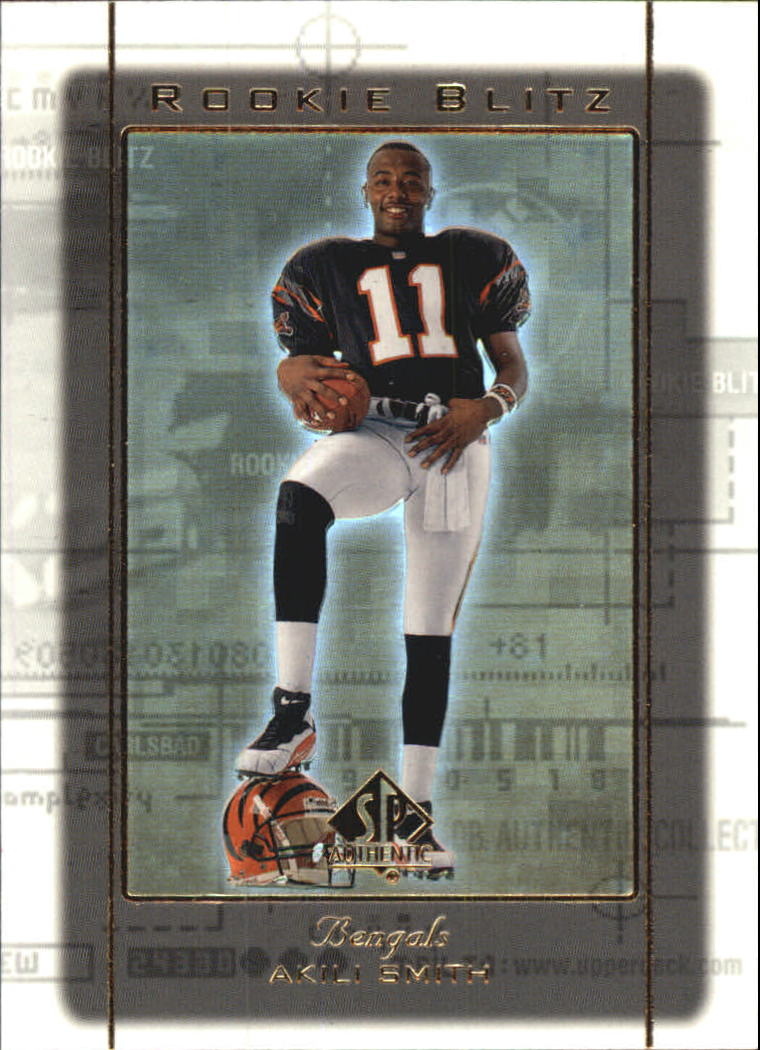 1999 SP Authentic Rookie Blitz #RB11 Akili Smith