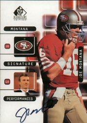 1999 SP Signature Montana Signature Performances #J1A Joe Montana