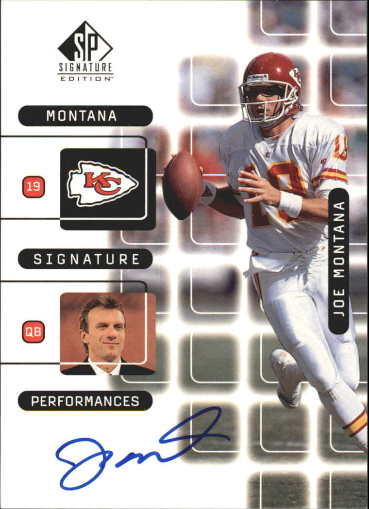 1999 SP Signature Montana Signature Performances #J10A Joe Montana