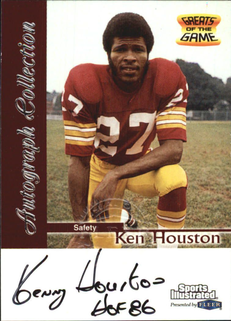 1999 Sports Illustrated Autographs #12 Ken Houston front image