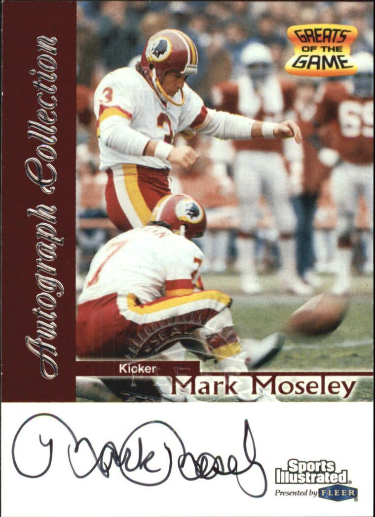 1999 Sports Illustrated Autographs #22 Mark Moseley