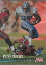 1999 Stadium Club Chrome Previews Jumbos Refractors #C9 Barry Sanders