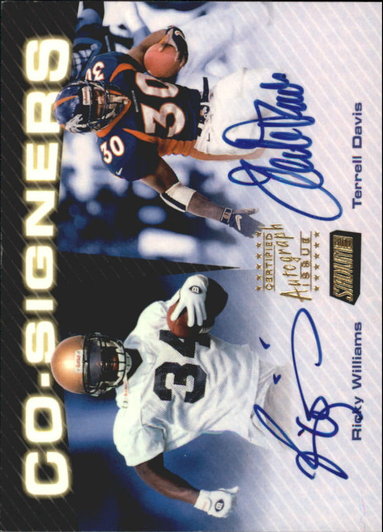1999 Stadium Club Co-Signers #CS1 Terrell Davis/Ricky Williams