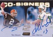 1999 Stadium Club Co-Signers #CS3 Dan Marino/Tim Couch