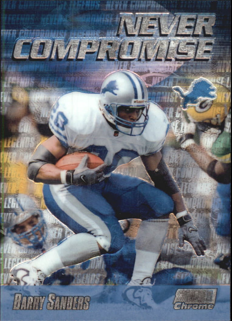 1999 Stadium Club Chrome Never Compromise #NC32 Barry Sanders