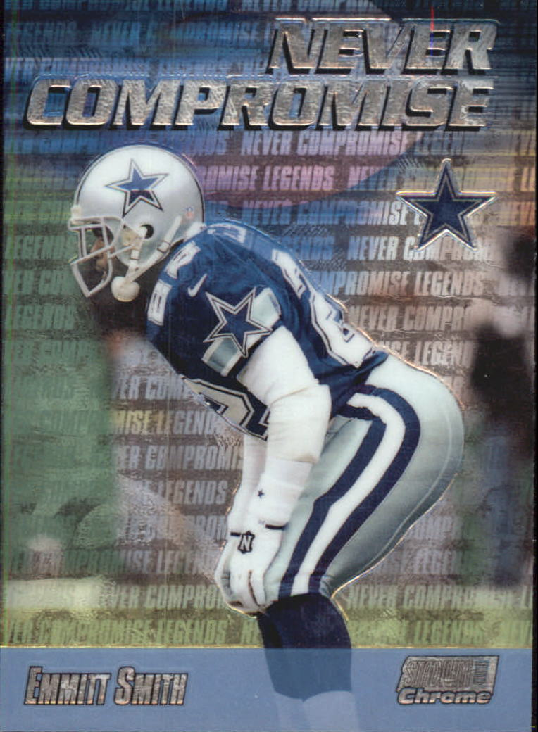 1999 Stadium Club Chrome Never Compromise #NC34 Emmitt Smith