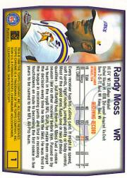 1999 Topps Chrome #1 Randy Moss back image