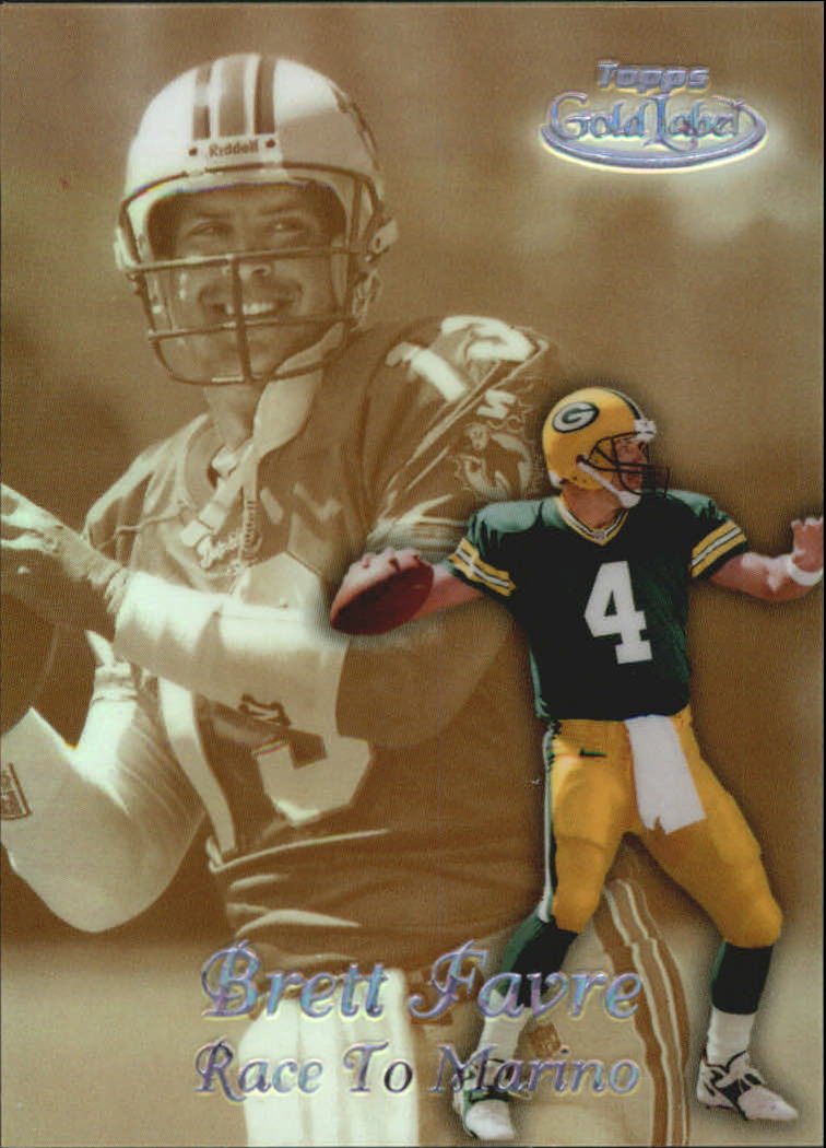 1999 Topps Gold Label Race to Black #R1 Brett Favre