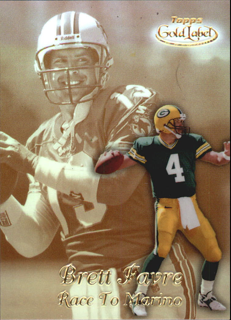 1999 Topps Gold Label Race to Gold #R1 Brett Favre