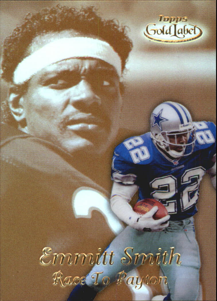 1999 Topps Gold Label Race to Gold #R6 Emmitt Smith