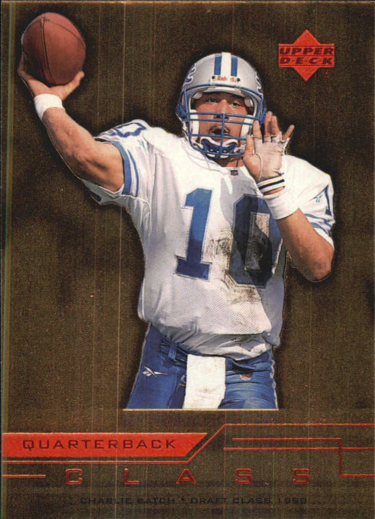 1999 Upper Deck Quarterback Class #QC10 Charlie Batch