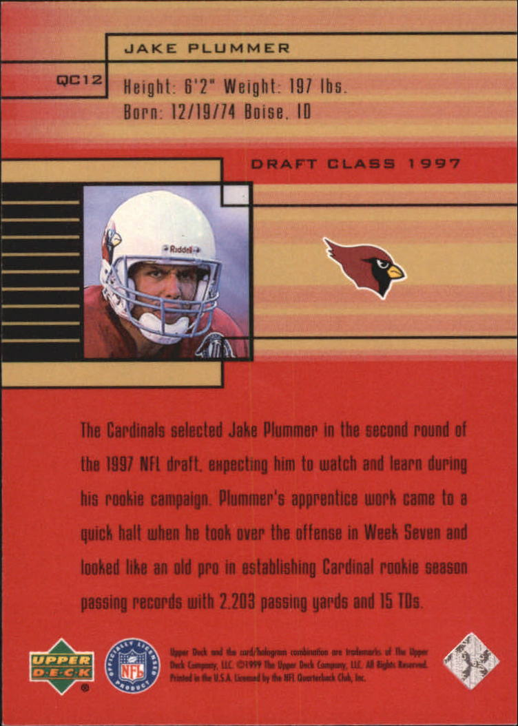 1999 Upper Deck Quarterback Class #QC12 Jake Plummer back image