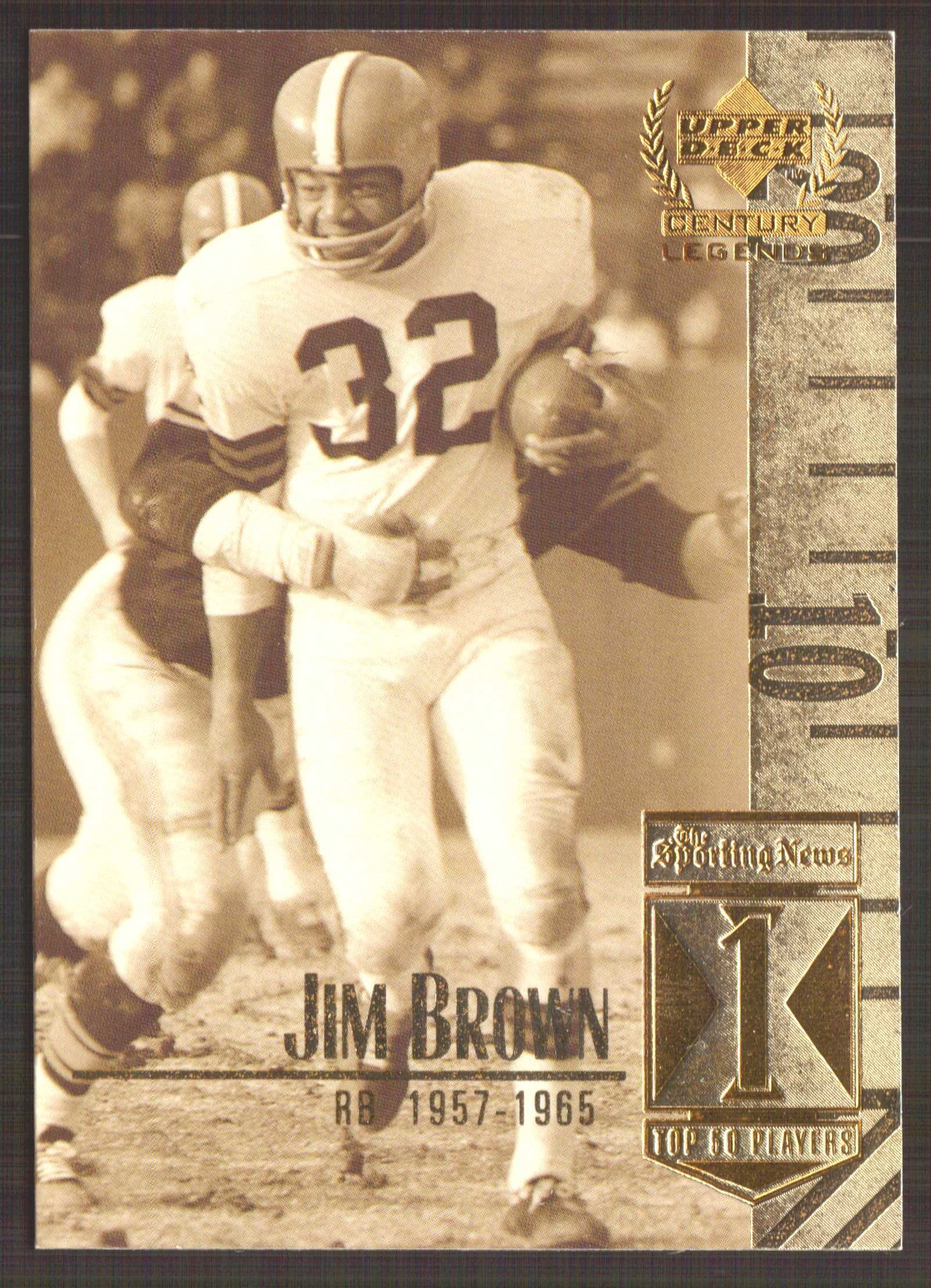 1999 Upper Deck Century Legends #1 Jim Brown