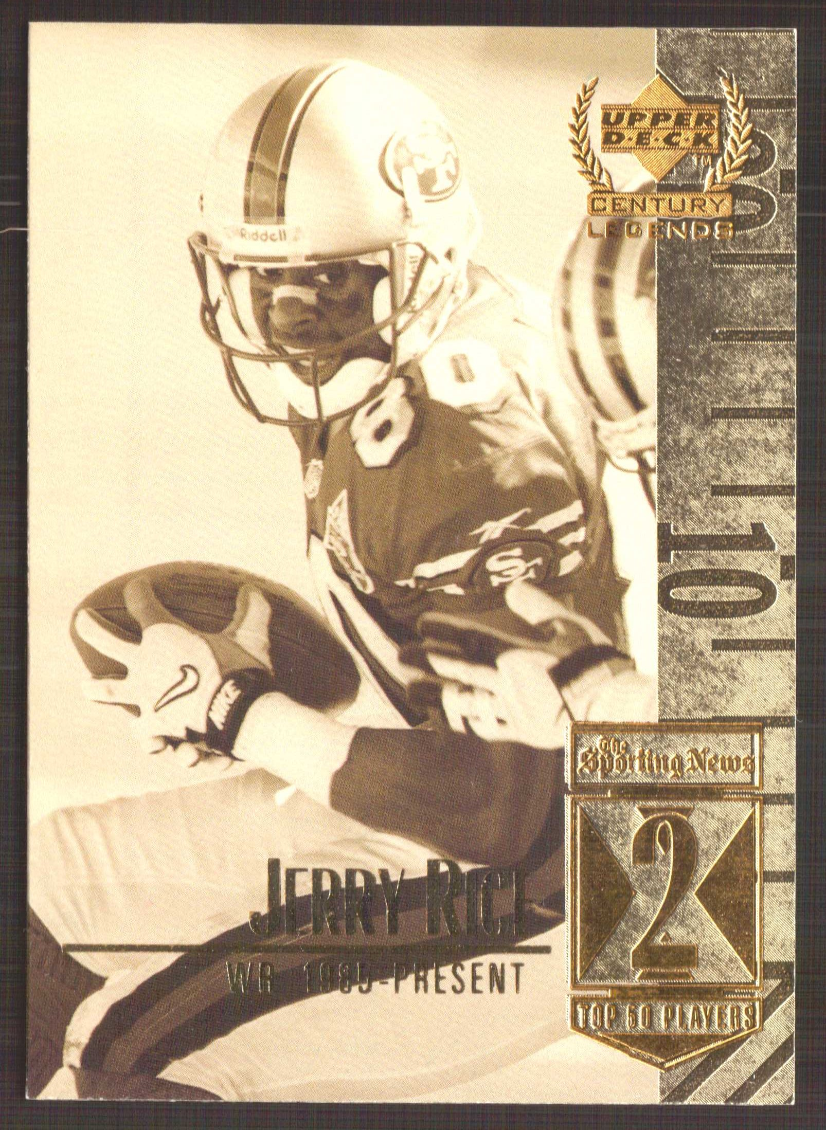 1999 Upper Deck Century Legends #2 Jerry Rice